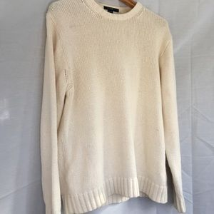 Ivory J crew cotton sweater